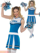 Smiffys 47123m Cheerleader Costume Blue Medium UK 12-14