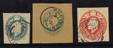 GB 1902 EMBOSSED PREPAID ENVELOPE 3X LAID PAPER USED EDWARD VII GREAT BRITAIN