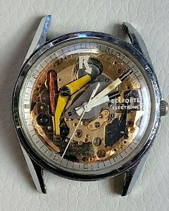 Rare Vintage BENRUS Belforte Electronic Spaceview Mens Watch Unique, Not Working