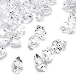 DomeStar Fake Crystals, 150PCS(2.5Cups) Acrylic Gems Clear Ice Rocks Plastic ...