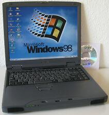 """Win 98 Vintage Laptop Toshiba Satellite Pro 4600 900 MHz 14"""" seriell RS232 Retro"""
