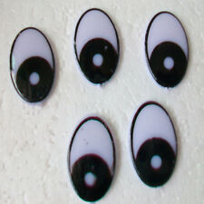 100Pc Blac Plastic Cartoon Clay Animal DOLL Oval Eye Flat Stick TOY DIY 11X15MM