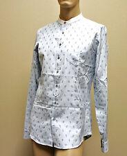 $770 NEW Auth GUCCI Mens Dress Shirt Skinny 42/16.5 Paisley Print Banded 282079