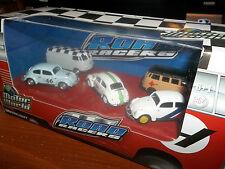 GREENLIGHT 1/64 MOTOR WORLD VW DIORAMA VOLKSWAGEN BUG, BETTLE, BUS, ROAD RACERS
