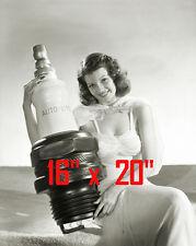 """Rita Hayworth~Auto-Lite Spark Plugs~Garage Sign~Garage Poster~ Photo 16"""" x  20"""""""