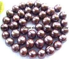 "Brown Freshwater Pearl 9-10mm Near Round Gemstone Beads 15"""