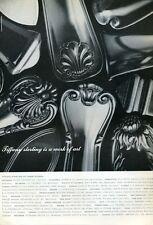 1965 Tiffany Sterling SILVERware Different Patterns 'Work of Art' PRINT AD