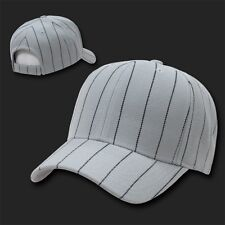 Gray Pinstripe Pin Stripe Striped Blank Solid Baseball Ball Cap Hat Caps Hats