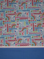 HANDMADE SNOOPY  HAPPINESS TRAVEL  SIZE PILLOWCASE