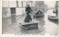 France CPA Paris Quai de Javel Janvier 1910 (f492)