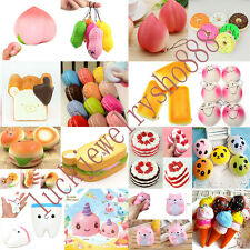 Kawaii Jumbo Squishy Fruit Breads Toast Slow Rising Cellphone Strap Charms Toys