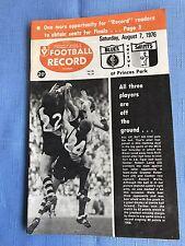 VFL Football Record 1976 Carlton V St Kilda