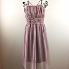 Gap Girl's Pink and Gold Tulle Gathered Waist Semi-Formal Party Dress Size 12
