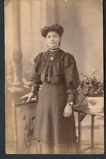 STUDIO RP POSTCARD A PRETTY YOUNG EDWARDIAN WOMAN CALLED ALICE C1908