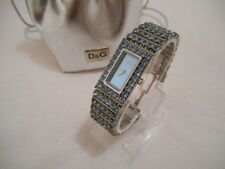 "MONTRE FEMME DOLCE & GABBANA, D&G LADIES WATCH ""JACLYN"" DIAMANTE STRASS BLEU"