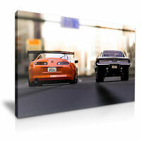 Fast And Furious Canvas Art Framed Print 30x20 Inch / 76x50CM