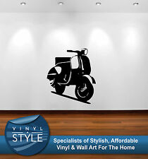 VESPA SCOOTER MOD RETRO INDIE VINTAGE STICKER WALL ART VARIOUS COLOURS