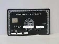 AMERICAN EXPRESS BLACK CENTURION CARD AMEX WITH CHIP