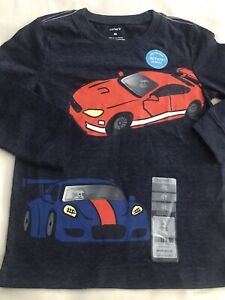 Carter's Toddler Boy's Long Sleeve Race Cars Action Graphics Tee 4T NWT
