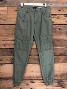Womens Aeropostale Jogger Cargo Pants Sz 30 Army Green