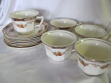 Booths 5 cups 8 saucers Silicon China England Old Time Imari style 1920's