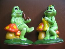 Vintage Lefton Frog Figurines H371