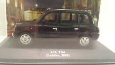 1/43TAX075 LTC TX4, TAXI LONDON 2009, NEGRO