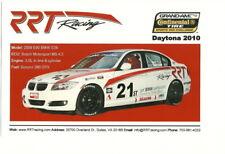 2010 RRT Racing BMW 328i ST Daytona Continental Tire blankback postcard