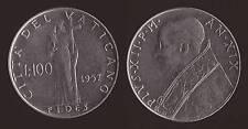 VATICANO 100 LIRE 1957 - PIO XII