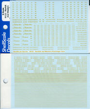 Norfolk and Western Passenger Car DECALS N123