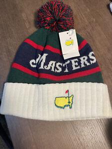 2020 Masters Augusta National Green/White Knit Toboggan Men's Golf Hat Beanie