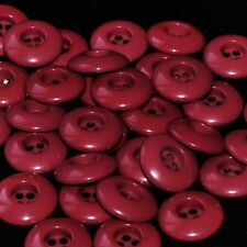 Mercerie lot de 5 boutons plastique rouge bordeaux 22mm button