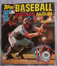 1982 Topps Baseball Sticker book unused Album Gary Carter