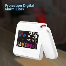 Digital Time Projector Temperature Humidity Weather Station Colorful Alarm Clock