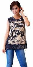 Black Sabbath Heavy Metal  Rock Band Tank Top Vest Singlet Black T Shirt