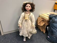 Künstlerpuppe Porzellan Puppe 85 cm. Top Zustand