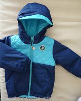 PUMA Kinderjacke Kinder Jungen Winterjacke Jacke blau mit Kapuze 80 NEU,EUR60,00