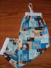 Dogs Puppies Pets Cotton Fabric Grocery Plastic Bag Holder Organizer Gift Idea
