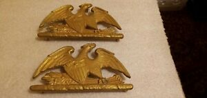 Vintage Brass Eagle Trivets. Spread Eagle heavy unbranded 7 3/8in X 4in