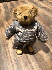 Vermont Teddy Bear US Army Tyson plush Tan Brown