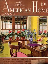 1936 American Home July -Houses in Atherton, Malibu Encinal CA; Hillister TX.