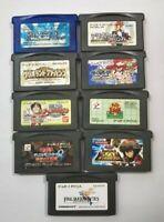 9 LOT NINTENDO Pokemon Saphire Mario Kart Game Boy Advance Games GBA Used Japan