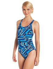 NEW Speedo Size 6 32 ATHLETIC Swimsuit RACING Blue White $82 Retail