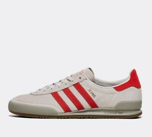 Mens Adidas Jeans Grey/Red Trainers (PF1) RRP £74.99