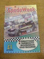 21/08/2004 Motor Racing: SpedeWeek No.29/04 - 21-26th August 2004, Yarmouth, Swa