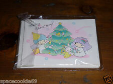 VINTAGE 1976-1983 SANRIO LITTLE TWIN STARS PACK OF CHRISTMAS GREETING NOTE CARDS