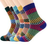 5 Pair Women Wool Socks Quarter Knit Thick Warm US 7-11