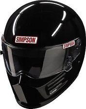 SIMPSON BANDIT HELMET SNELL SA2015 2010 GLOSS BLACK S SMALL 56cm 7 fia MSA HANS