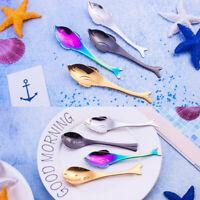 Cartoon Stainless Steel Hippo Whale Puffer Spoon Tableware Dessert Teaspoon Tool