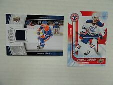 Taylor Hall 2013/14 Upper Deck Game Jersey & 2015/16 Upper Deck Pride Of Canada